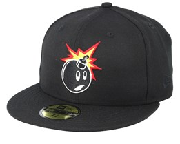 Adam NE 59Fifty Black Fitted - The Hundreds