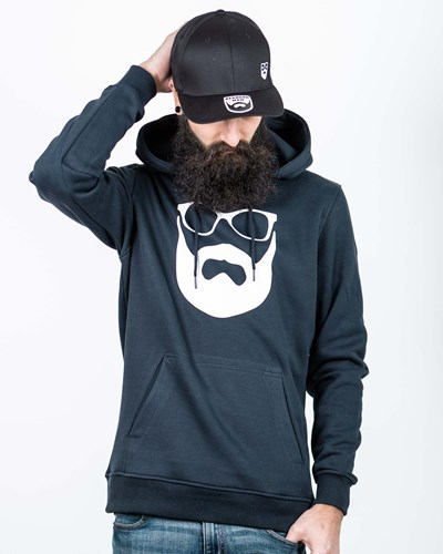 Logo Navy/White Hoodie - Bearded Man