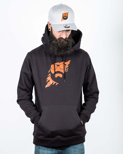 Scratch Black/Orange Hoodie - Bearded Man