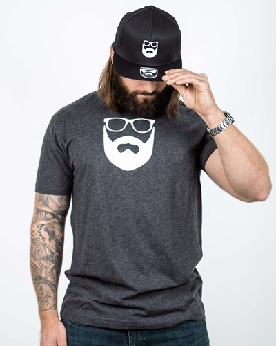 Logo Charcoal/White T-Shirt - Bearded Man