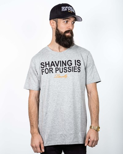 Shaving Grey/Black T-Shirt - Bearded Man