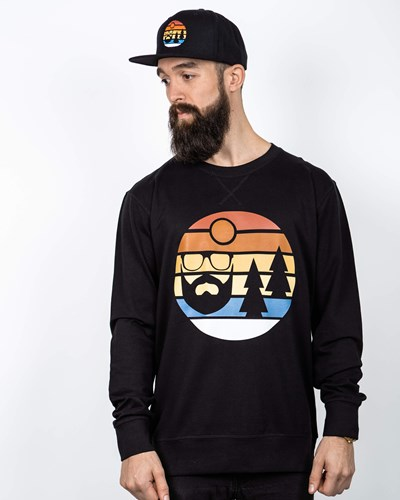Sunset Black Sweatshirt - Bearded Man