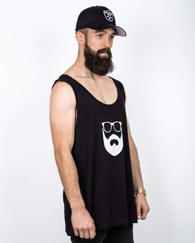 Logo Black/White Tank - Bearded Man