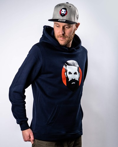 Sunshine Man Navy Hoodie - Bearded Man
