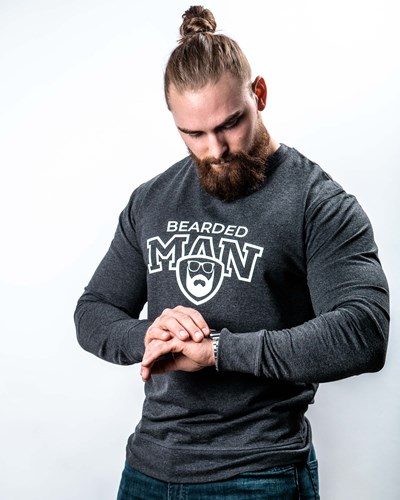 Team BM Charcoal/White Sweatshirt - Bearded Man