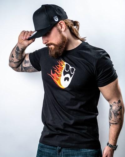 Beard Comet Black T-Shirt - Bearded Man