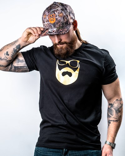 Logo Black/Gold T-Shirt - Bearded Man