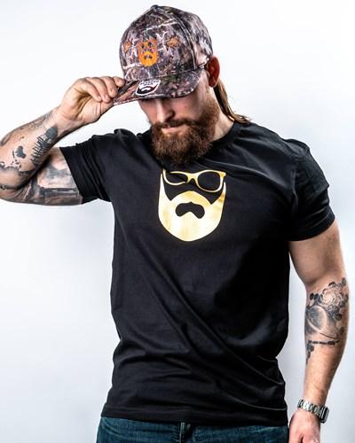 Logo Black/Gold T-Shirt - Bearded Man