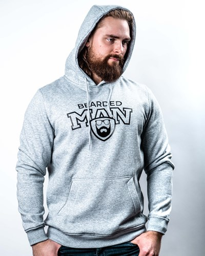 Team BM Grey Hoodie - Bearded Man