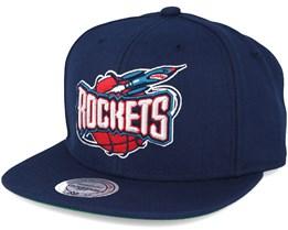 Houston Rockets Wool Solid 2 Navy Snapback - Mitchell & Ness