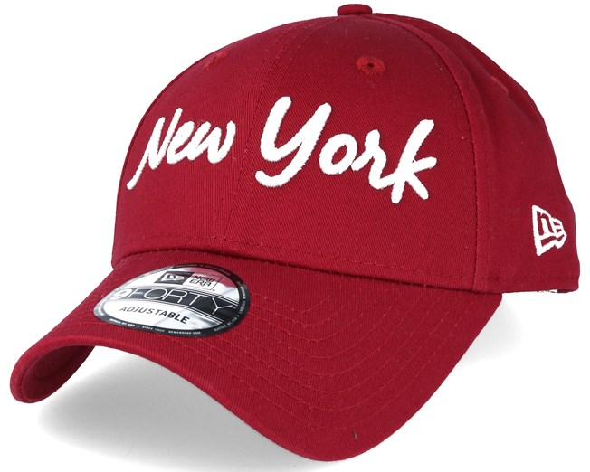 e32a56757e739 NY Yankees 9forty Script Red - New Era cap - Hatstore.co.in