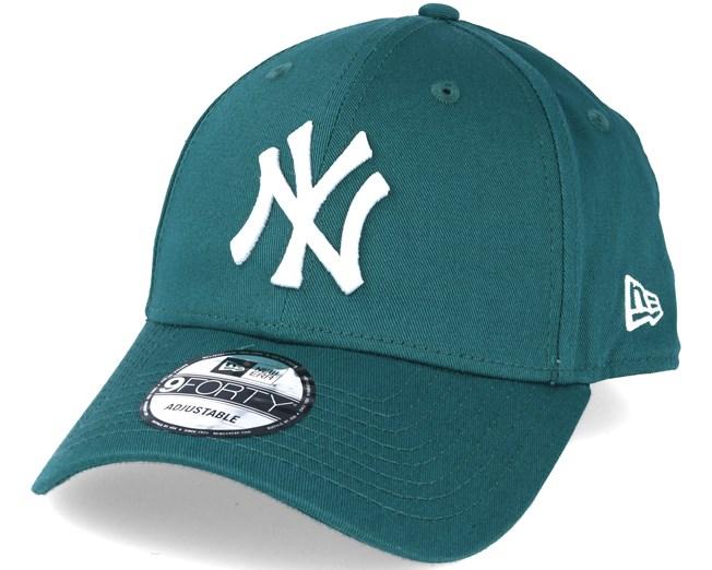 New York Yankees MLB League Ess Dark Green 9forty Adjustable - New ... 81422df8539f