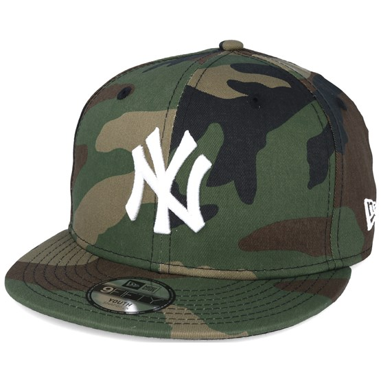4413549a6e1 Kids New York Yankees Jr MLB League Ess Camo 9fifty Snapback - New Era cap  - Hatstore.co.in