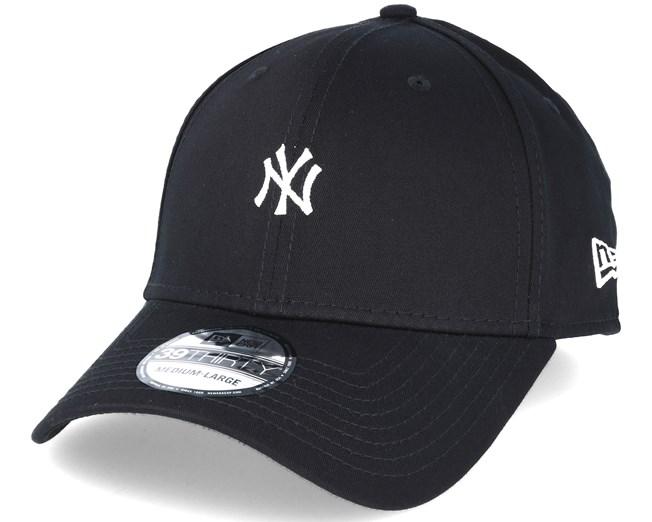 ff2d004ce89f5 New York Yankees Mini Logo Essential Black 39thirty Flexfit - New ...
