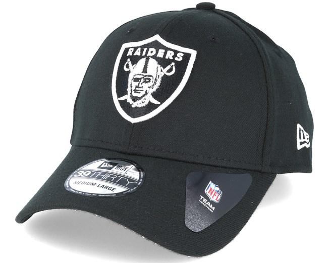 41da9923dce Oakland Raiders NFL Team Essential Stretch Black 39thirty Flexfit - New Era