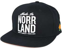 Made In Norrland Black Snapback - Sqrtn