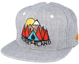 Campsite Grey Snapback - Sqrtn