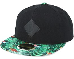 Kids Flamingo Black Youth Snapback - State of wow