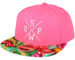 Kids Rexdale Neon 2 Youth Pink Print Snapback - State of wow c3009a9e03a5