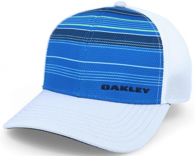 Silicone Bark Trucker Print 2.0 Blue White Flexfit - Oakley caps ... 0d790edbc28