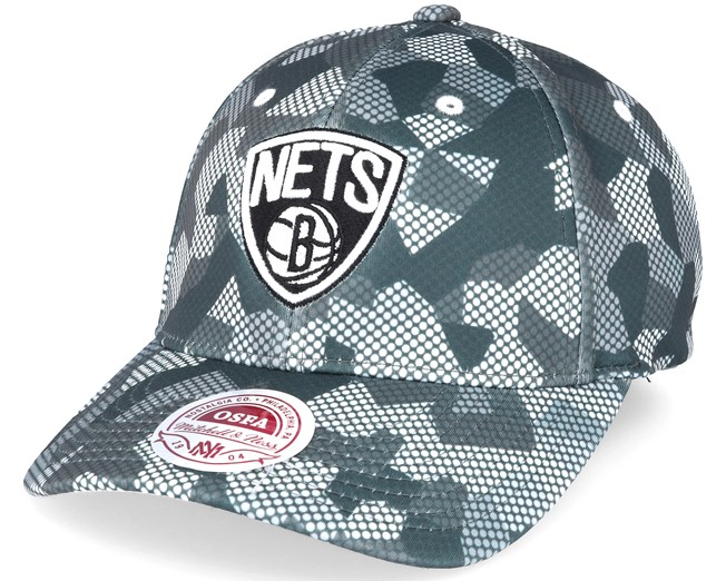 d05a98a8c5e Brooklyn Nets Carbon Camo Slouch Flexfit - Mitchell   Ness caps ...