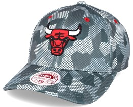 Chicago Bulls Carbon Camo Slouch Flexfit - Mitchell & Ness