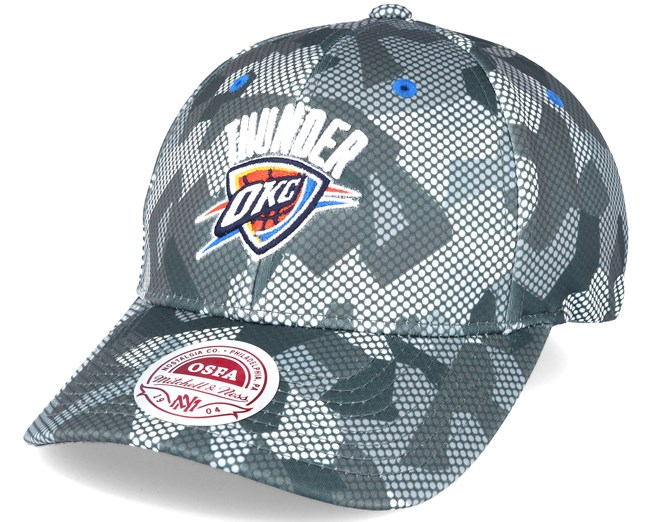 daf77cb31d6 Oklahoma City Thunder Carbon Camo Slouch Flexfit - Mitchell   Ness ...