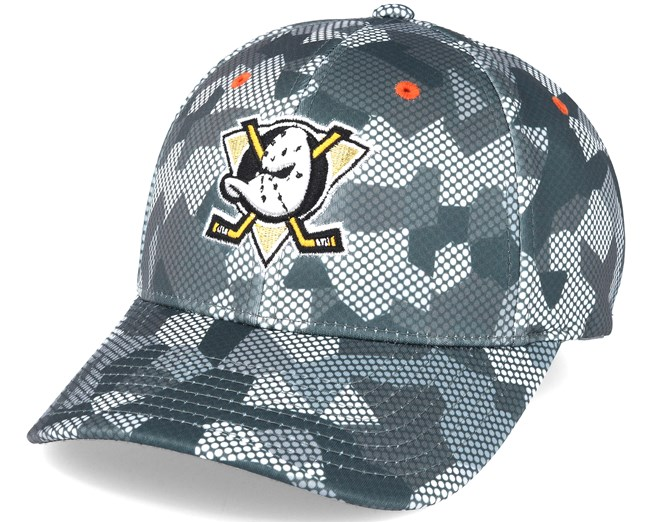 brand new 097c6 891cb Anaheim Ducks Carbon Camo Slouch Flexfit - Mitchell   Ness
