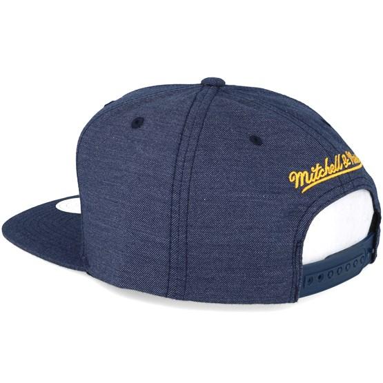 Golden State Warriors Cut Heather Blue Snapback - Mitchell   Ness Gorra -  Hatstore d7a05f712c8