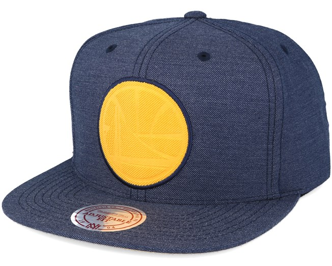 new product 0596a 622ee Golden State Warriors Cut Heather Blue Snapback - Mitchell   Ness