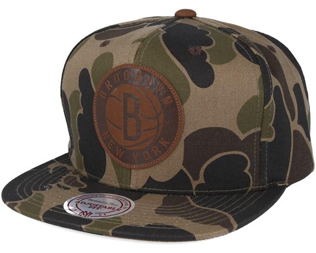 7de87604627f7 Brooklyn Nets Lux Camo Strapback Adjustable - Mitchell   Ness caps ...