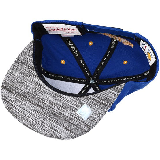 4c21ed7693f Golden State Warriors Motion 2 Tone Royal Blue Snapback - Mitchell   Ness  caps