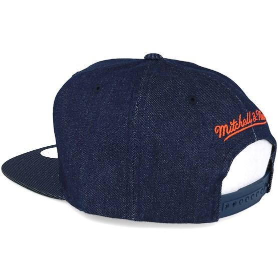 3004ffaf98fa9 New York Knicks Raw Denim 3T PU Snapback - Mitchell   Ness caps -  Hatstoreworld.com