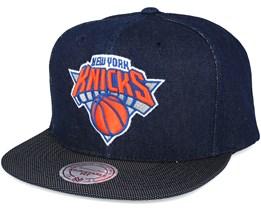 New York Knicks Raw Denim 3T PU Snapback - Mitchell & Ness