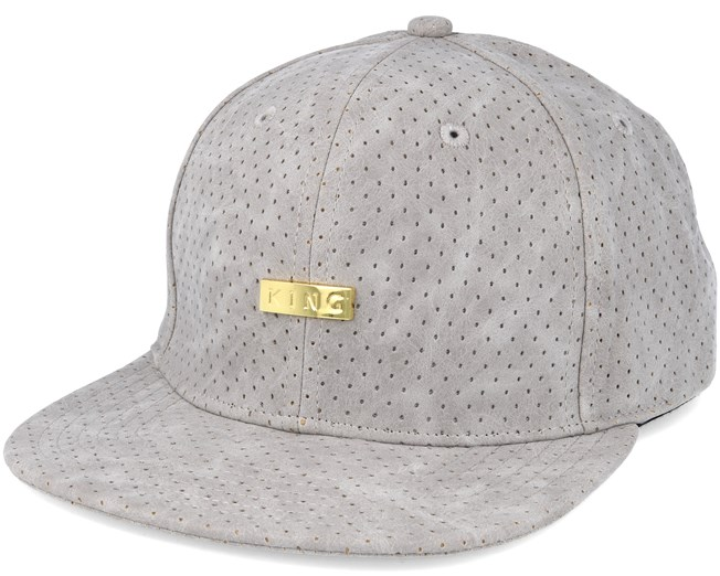Luxe Pref Crached Leather Grey Snapback - King Apparel - Start Boné ... 207b0b316a4