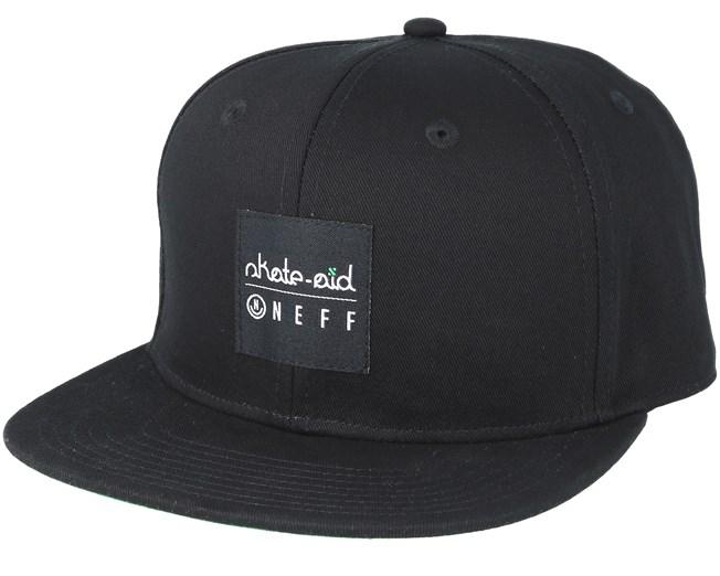 51c72ce18d4 Skate Aid Daily Black Snapback - Neff caps