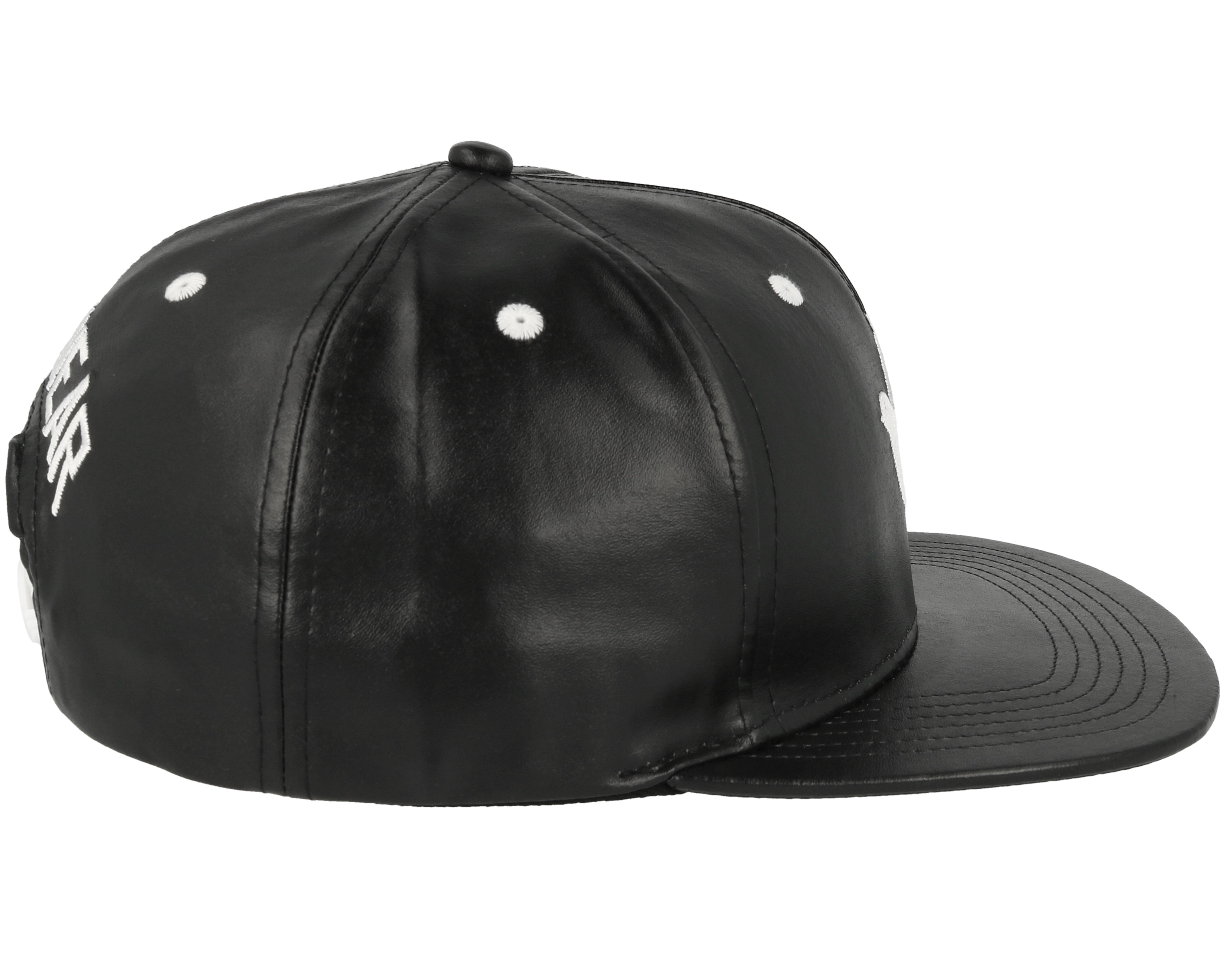 Save Us Leather Black Snapback Galagowear Caps