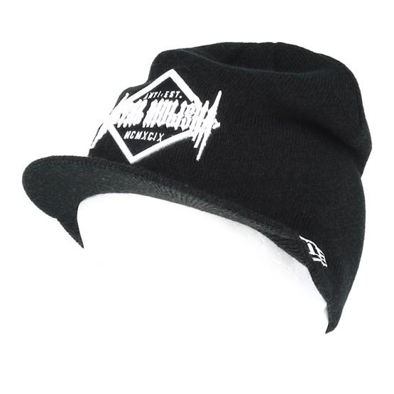 Bagged Visor Black Beanie - Metal Mulisha beanies - Hatstoreworld.com 491735e9a06