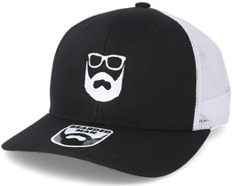 Logo Black/White Trucker - Bearded Man