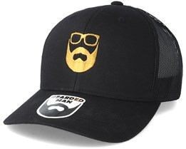Logo Black/Gold Trucker - Bearded Man