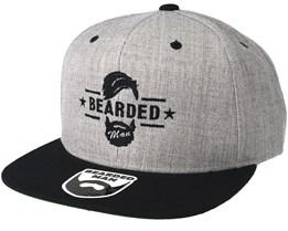 Beard Logo Grey/Black Snapback - Bearded Man
