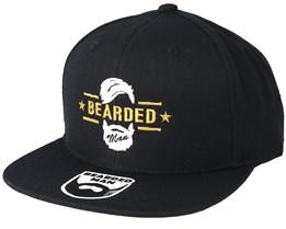 Beard Logo Black Snapback - Bearded Man