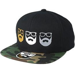 83f31a03a Bones Black/Gold Snapback - Bearded Man caps - Hatstoreworld.com