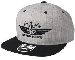 Beard Force Grey Black Snapback - Bearded Man 5712780e0