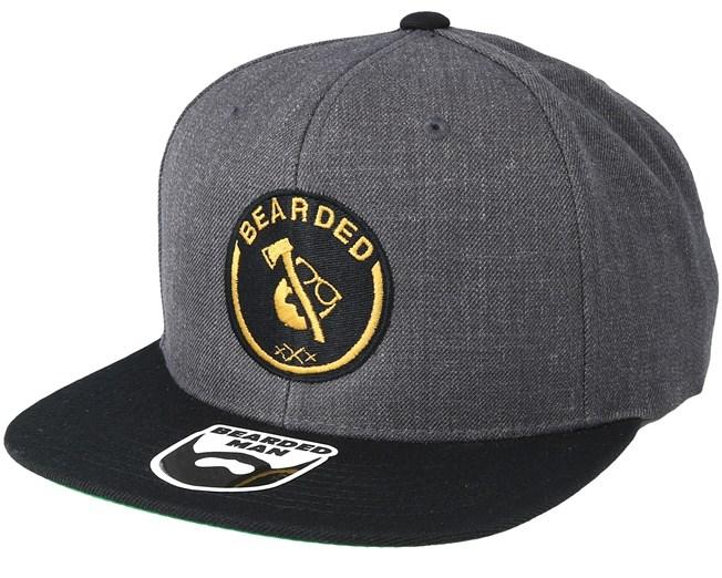 185d9218311 Axe Man Charcoal Black Snapback - Bearded Man caps - Bearded Man