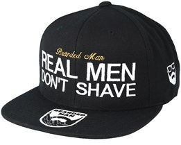 Real Men Black Snapback - Bearded Man