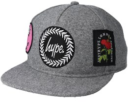 Patches Snapback Grey/Multi Snapback - Hype