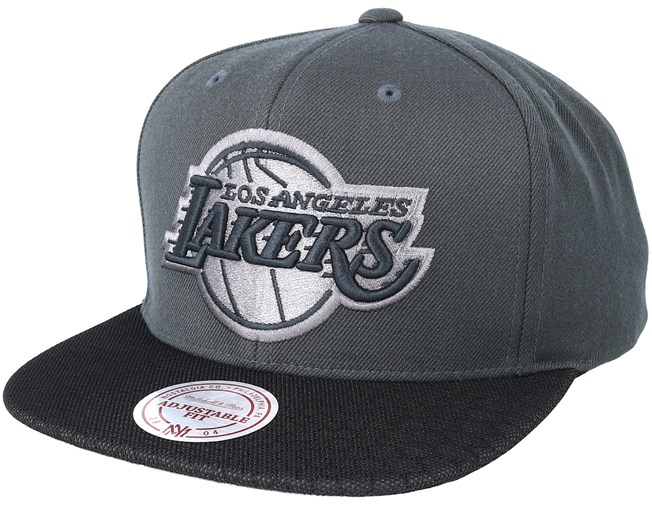 new arrival 36d0d ef931 Los Angeles Lakers Hologram Mesh Stop On Dime Charcoal Snapback ...