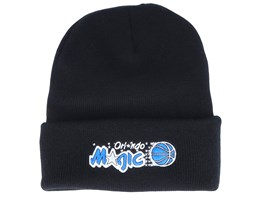 Orlando Magic Team Logo Knit Black Cuff - Mitchell & Ness