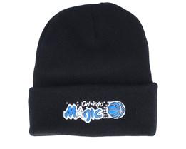 Orlando Magic Team Logo Knit Black Cuff - Mitchell & Ness